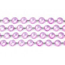 Kristal slinger lavendel, lengte 1 meter