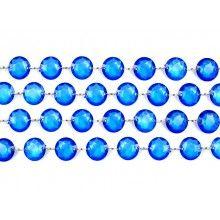 Kristal slinger diep blauw, lengte 1 meter