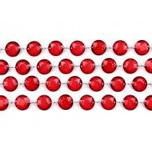 Kristal slinger diep rood, lengte 1 meter