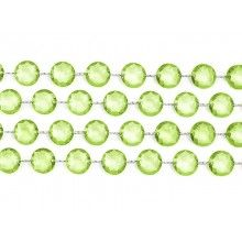 Kristal slinger lichtgroen, lengte 1 meter