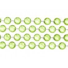 Crystal garland light green