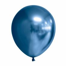 Chroom ballon 30cm blauw, 10 stuks