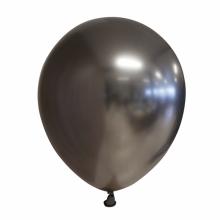 Chroom ballon 30cm antraciet, 10 stuks