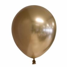 Chroom ballon 30cm goud, 25 stuks