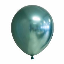Chroom ballon 30cm groen, 10 stuks