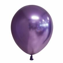 Chroom ballon 30cm paars, 10 stuks