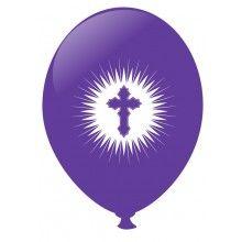 Communie ballonnen lavendel