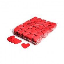 Slowfall hart confetti 55mm rood brandvertragend, 1 kg