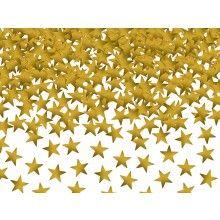 Tafelconfetti sterretjes goud, zakje 30 gram