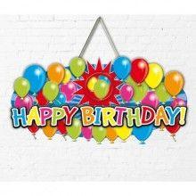 Deurbord Happy Birthday met foto lijstje