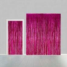 Deurgordijn roze metallic 100 x 240cm