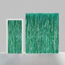 Deurgordijn groen metallic 100 x 240cm