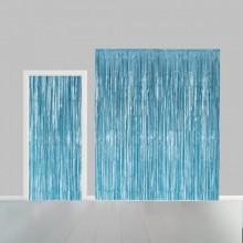 Deurgordijn lichtblauw metallic 100 x 240cm