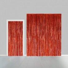 Deurgordijn rood metallic 100 x 240cm