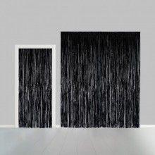 Deurgordijn zwart 100 x 240cm