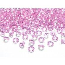 Kristal diamant confetti lichtroze 12mm, zakje 100