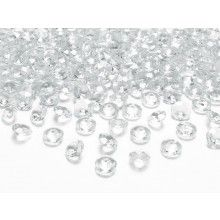 Kristal diamant confetti transparant 12mm, zakje 100