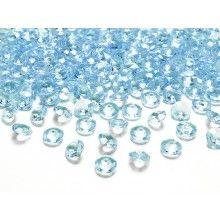 Kristal diamant confetti turquoise 12mm, zakje 100
