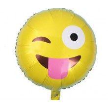 Folieballon 45cm emoticon Knipoog