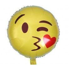 Folieballon 45cm emoticon Kus