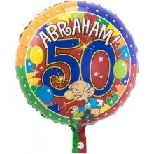 Folieballon 45cm Abraham knalfeest