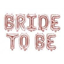 Folieballon letterslinger Bride to Be rose gold 340 x 35cm