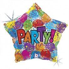 Folieballon 45cm Party! ballonnen holografisch