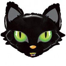 Folieballon 71cm zwarte kat mighty bright