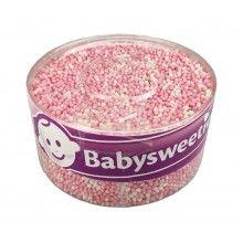 Geboorte muisjes roze en wit, silo 900 gram