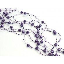 Beaded garland violet