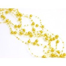 Beaded garland yellow