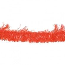 Guirlande franje slinger foil oranje, 4 meter