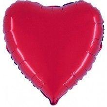 Folieballon hart 90cm rood, per stuk