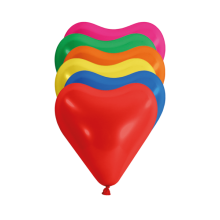 Hartballon 15cm doorsnee mix, 100 stuks