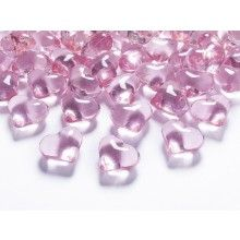 Kristallen hartjes 21mm lichtroze, zakje 30 stuks