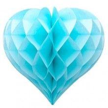 Honeycomb hartvorm lichtblauw