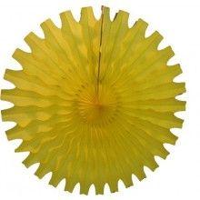 Honeycomb waaier geel 45 cm