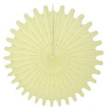 Honeycomb waaier ivoor 45 cm