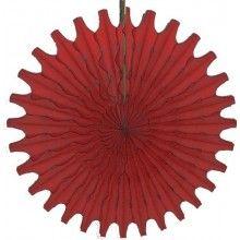 Honeycomb waaier rood 45 cm