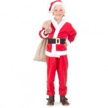 Luxe kerstman kostuum jongens maat M