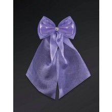 Violet strikken met diamant, 2 stuks