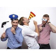 Foto props politie agent op een stokje