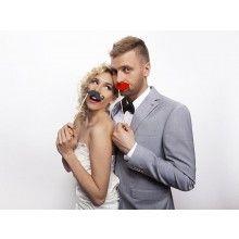 Foto props Rode lippen, 6-delig