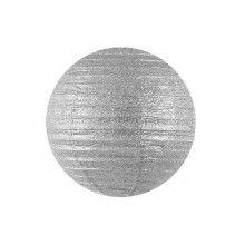Lampion zilver glitter