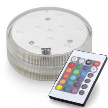 LED verlichting RGB 5cm met afstandsbediening, per stuk