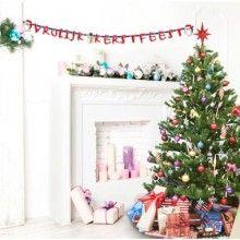 Letterslinger Vrolijk Kerstfeest, 3 meter