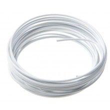 Lichtgewicht aluminiumdraad 2mm wit, 5 meter