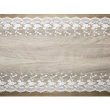 Luxe decoratief kant 1 off-white, 45cm x 9mtr