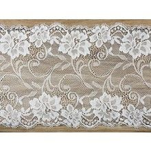 Luxe decoratief kant off-white, 18cm x 9mtr