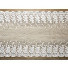 Luxe decoratief kant 2 off-white, 45cm x 9mtr